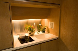Kitchen Amenities 1-Bedroom Apartment 98 Sq.m. CHI Residences 120 (Pet Friendly)