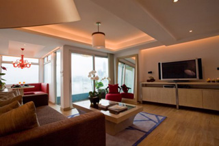 Living Area 1-Bedroom Apartment 98 Sq.m. CHI Residences 120 (Pet Friendly)