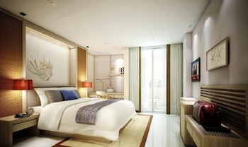 It is one of the newly built hotels with 248 luxurious rooms that are spread throughout 5 buildings. Each of these buildings has a roof top swimming pool.  The guests can choose from a Superior, Delux