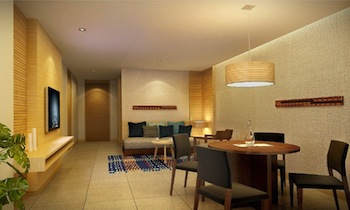 Living area 2-Bedroom Apartment 94 Sq.m. Citrus Heights Patong Hotel