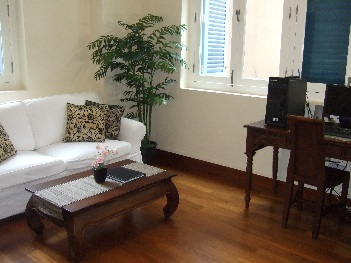 Living Area 1-Bedroom Apartment  Sq.ft. Citystate Serviced Apartment