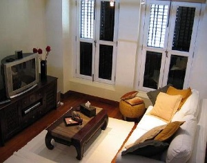 Living Room 1-Bedroom Apartment  Sq.ft. Citystate Serviced Apartment