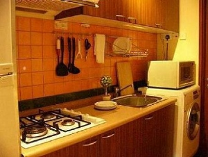 Kitchen 1-Bedroom Apartment  Sq.ft. Citystate Serviced Apartment