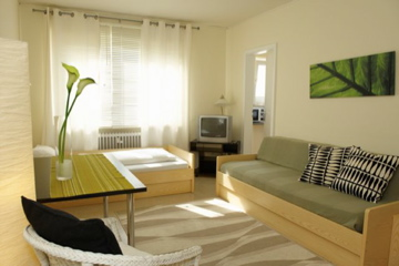 The CONCEPT LIVING MUNICH has opened in september 2005 and offers you comfortabel and individually styled apartments. This  one-bedroom serviced apartment is 25 sq.m ,  and can sleep 2 people maximum.