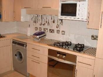Azure Fully Equipped Kitchen 1-Bedroom Apartment 40 Sq.m. Earle House