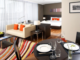 Fraser Suites Sukhumvit is a stylish 32-story building where offer 163 elegantly furnished guest rooms for comfortable and contemporary living. The rooms range from studios to three-bedroom spacious a