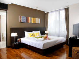 Bedroom 3-Bedroom Apartment 140 Sq.m. Fraser Suites Sukhumvit