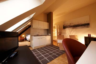 This  two serviced apartment is 22 sq.m ,  and can sleep 2 people maximum.  The apartment has 1 bathroom. The minimum length of stay for this apartment is 1 Night(s).