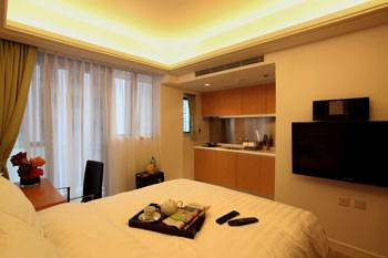 Studio Suite Studio Apartment  Sq.ft. GARDENEast Serviced Apartments