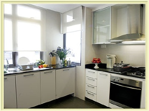 Kitchen 4-Bedroom Apartment 204 Sq.m. Great World Serviced Apartments