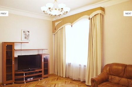 ID 0206 Moscow, 2-room Serviced apartment, m. Barrikadnaya