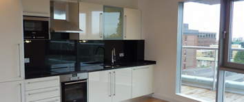 Kitchen Area 1-Bedroom Apartment 42 Sq.m. Latitude Serviced Apartments