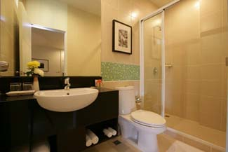 Bathroom Studio Apartment 27 Sq.m. Legacy Express Bangkok