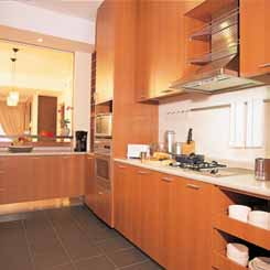 Kitchen area 2-Bedroom Apartment  Sq.ft. Lotus at Jervois Serviced Apartments
