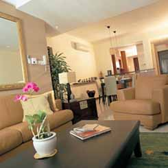 Living area 2-Bedroom Apartment  Sq.ft. Lotus at Jervois Serviced Apartments