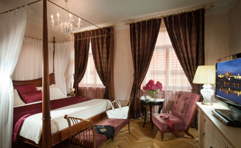Mamaison Suite Hotel Pachtuv Palace Prague has 50 unique apartments, each one of them having a different lay out, view and decoration. Pachtuv Palace interior designer is Jane Wilson from RPW. Jane Wi