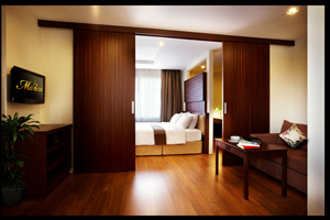 Monaco Bangkok Apartments offers a home in style to Bangkok`s visitors and expatriates. True to its 5-star location, all units feature a 5-star hotel decor -- built-in teak wood furniture, marble-top