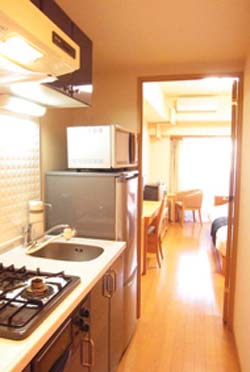 Kitchen Studio Apartment 22 Sq.m. PALACE STUDIO Shinjuku Parkside