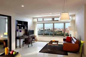 Check in to contemporary chic. Fully furnished 90 apartments situated from the 18th to 22nd floor of The Plaza. Streamlined lobby houses a private library, which together with its subtle finishes of s