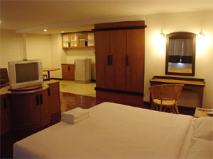 We offer you many types of rooms such as Studio Room, Deluxe Room, Family Room,Mini Suite,Studio/Connect Door with Bath. Moreover, we offer you many facilities that you can enjoy your holidays for ins