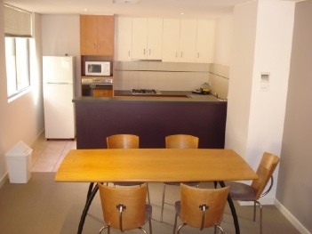 Kitchen & Dinning Area 2-Bedroom Apartment 80 Sq.m. Quest On Sturt Serviced Apartments