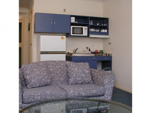 These serviced apartments offer 42 studio apartments which all feature kitchenettes. A guest laundry is also provided.