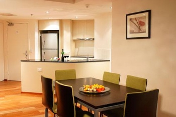Kitchen & Dinning Area 1-Bedroom Apartment 45 Sq.m. Quest River Park Central Serviced Apartments