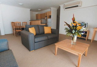 Living area 1-Bedroom Apartment 60 Sq.m. Quest Rosehill
