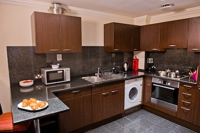 Fully Equipped Kitchen 3-Bedroom Apartment 99 Sq.m. Sanctum International Serviced Apartments