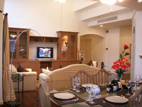 The superbly furnished spacious 2 and 3 bedroom apartments comprise extensive living and dining areas and large master bedroom with en-suite bathroom and walk-in closet. a nicely located study room ca