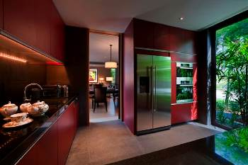Kitchen 3-Bedroom Apartment 391 Sq.m. The Club at Capella Singapore
