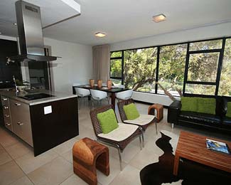 Living & Kitchen area 2-Bedroom Apartment 130 Sq.m. The Glen Apartments