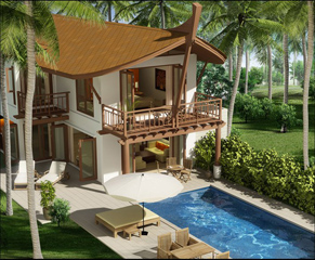 Villa 2-Bedroom Apartment 400 Sq.m. The Village Coconut Island