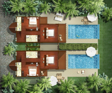 Floor Plan (Upper Floor) 2-Bedroom Apartment 400 Sq.m. The Village Coconut Island