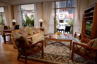 Living Area 3-Bedroom Apartment  Sq.ft. Treetops Executive Residences