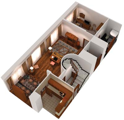 Floor Plan Lower Floor 3-Bedroom Apartment  Sq.ft. Treetops Executive Residences