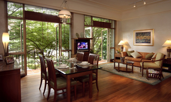 Living area 2-Bedroom Apartment  Sq.ft. Treetops Executive Residences