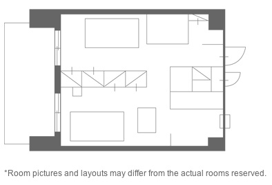 Floor plan 1-bed 66sqm 1-Bedroom Apartment 65 Sq.m. Hotel MyStays Akasaka